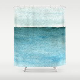 Calm sea 1985 Shower Curtain