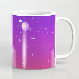 Pixelated Galaxy Coffee Mug