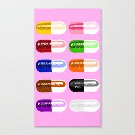 Pill Popper Pink Canvas Print