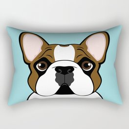 Frenchie - Fawn Pied Rectangular Pillow
