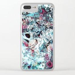 Skull Queen II Clear iPhone Case
