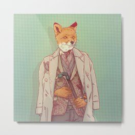 Jay the Fox Metal Print