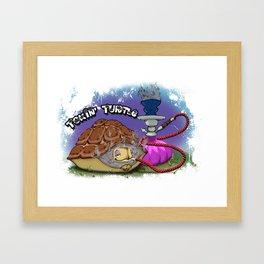 Tokin' Turtle Framed Art Print