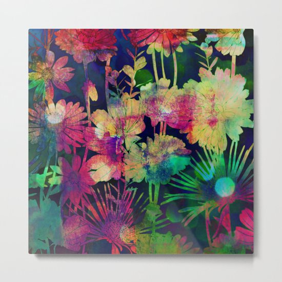 bright floral and bokeh Metal Print