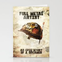 full metal alchemist Stationery Cards featuring Full metal artist by HappyMelvin