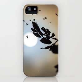 Bats in a Full Moon on Halloween iPhone Case