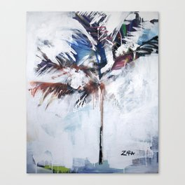 Pink and Blue Palm Tree, 2011 Canvas Print