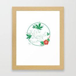 Live Laugh Smoke - Cannabis Mom, Smoking Love Weed Marijuana print Framed Art Print