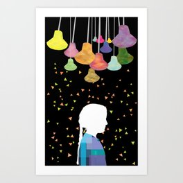 turn on the bright lights Art Print
