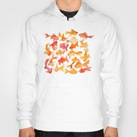watercolour Hoodies featuring Goldfish by Cat Coquillette