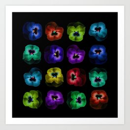 Square of violets Art Print