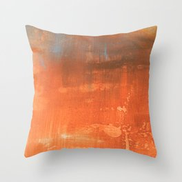 Abstract art in tan Throw Pillow