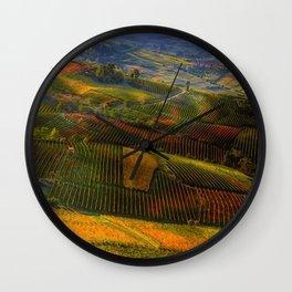 Tuscany, italian wineyards Wall Clock