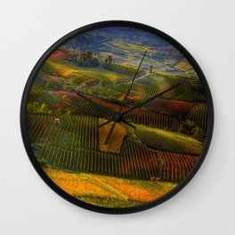 Tuscany, italian wineyards Wall Clock