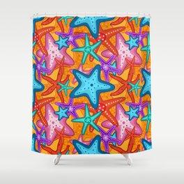 Starfish Pattern Design 2 Shower Curtain