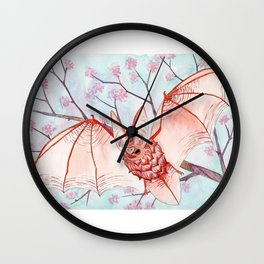cherry bat Wall Clock