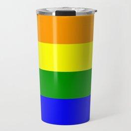 Rainbow Flag Travel Mug
