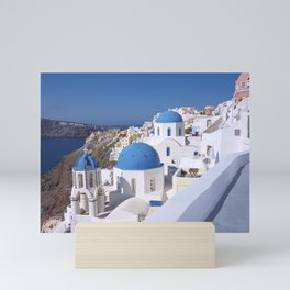 Oia Village in Santorini Mini Art Print