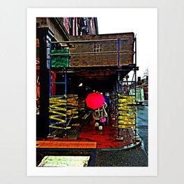 PinkUmbrellaIsntArt Art Print