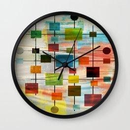 Mid-Century Modern Art 1.3 -  Graffiti Style Wall Clock