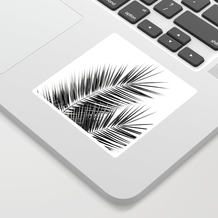 Black Palm Leaves Dream - Cali Summer Vibes #1 #tropical #decor #art #society6 Sticker