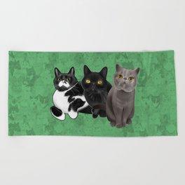 Poohkie, Mer, and Bart Beach Towel
