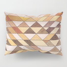 Triangle Pattern Fall Colors Pillow Sham
