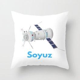 Soyuz Spacecraft Throw Pillow