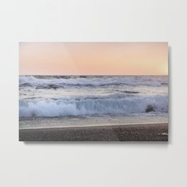 Looking at the sea.... Magnetic waves Metal Print