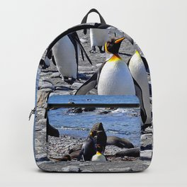 King Penguins on the Beach Backpack