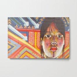 Continental Summit of Indigenous Peoples Mural Metal Print