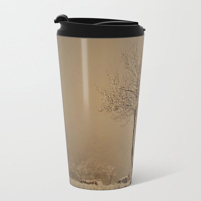 Sepia winter Travel Mug