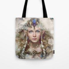 Epic Princess Zelda from Legend of Zelda Painting Tote Bag