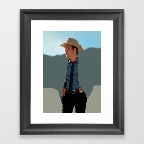 Justified Framed Art Print