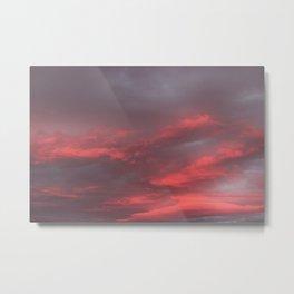 Red at Night Sailors Delight Metal Print