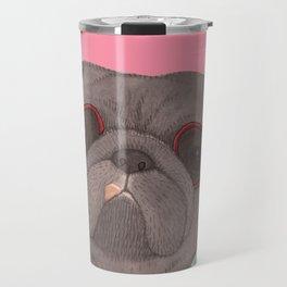 Hawaiian Pug Travel Mug