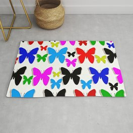 Butterfly Pretty Colors Pattern Rug