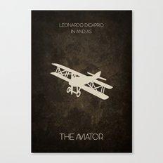 The Aviator Minimalist Poster Canvas Print