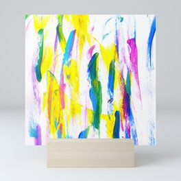 Paint Smears Colorful Abstract Mini Art Print