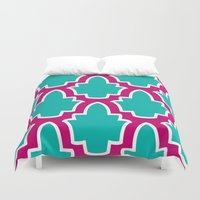 moroccan Duvet Covers featuring Moroccan by Farah Saheb