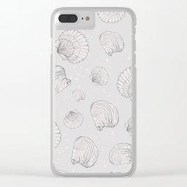 Elegant Sea Shell Art Clear iPhone Case