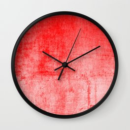 Distressed Coral Textured Canvas Wall Clock
