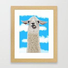 Derp Llama Framed Art Print