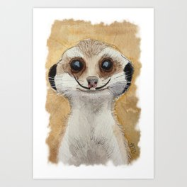 Meerkat 'Stache II Art Print