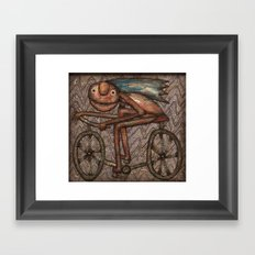 The Biker Framed Art Print