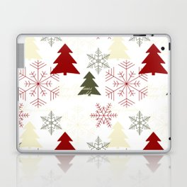 Christmas pattern with gift boxes and snowflakes. Laptop & iPad Skin