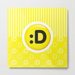 Yellow Writer's Mood Metal Print