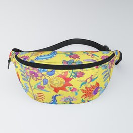 Fantasy Flora Yellow Fanny Pack