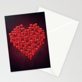 Cube Heart Stationery Cards