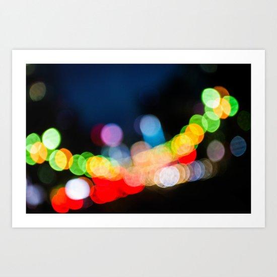 Streetlight Bokeh Art Print